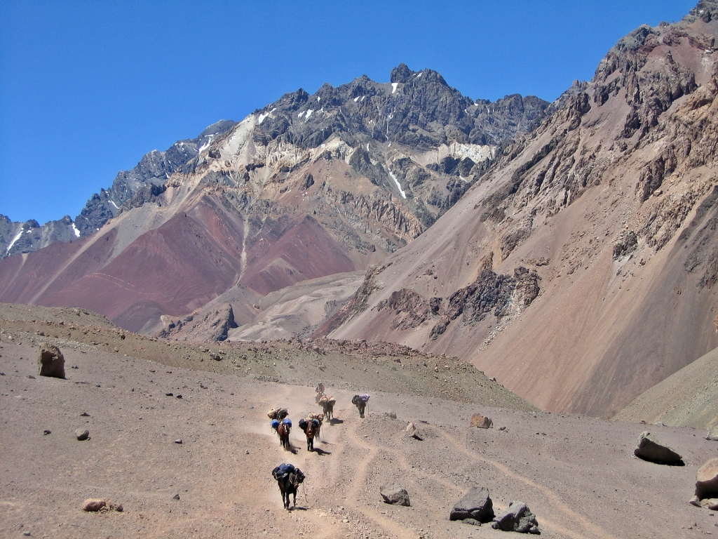 Trail to Plaza de Mulas, Aconcagua
