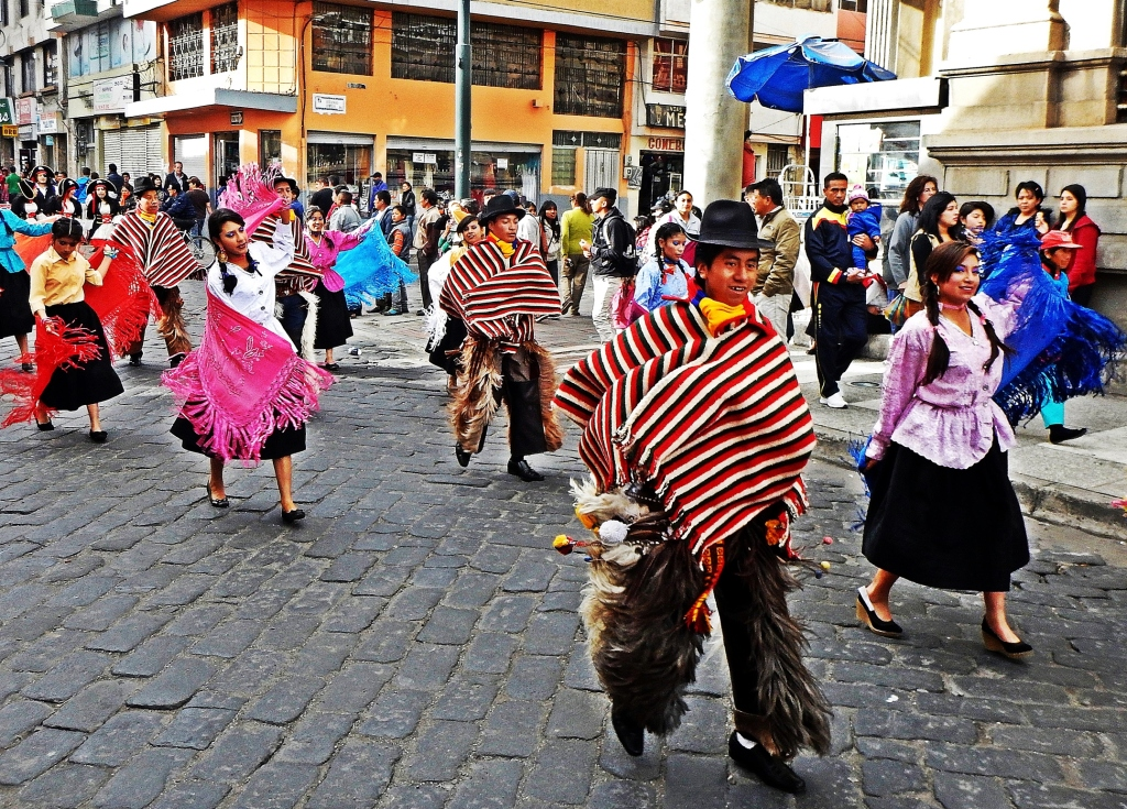 New Year's Eve parade, Riobamba