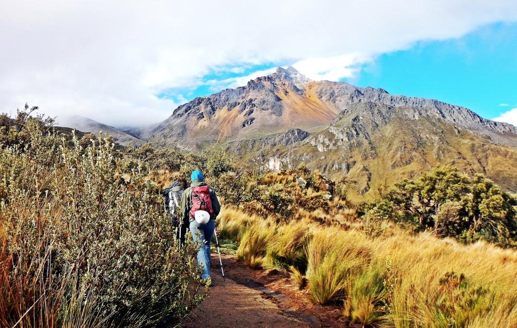Trekking below Illiniza Norte, Ecuador