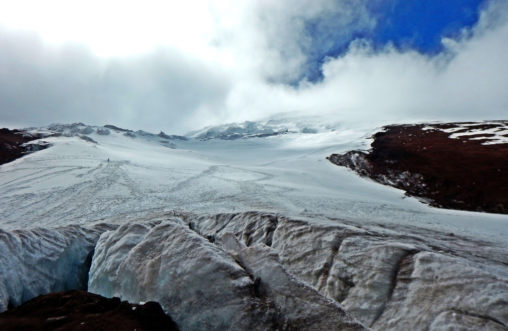 Toe of the glacier, Cotopaxi, Ecuador