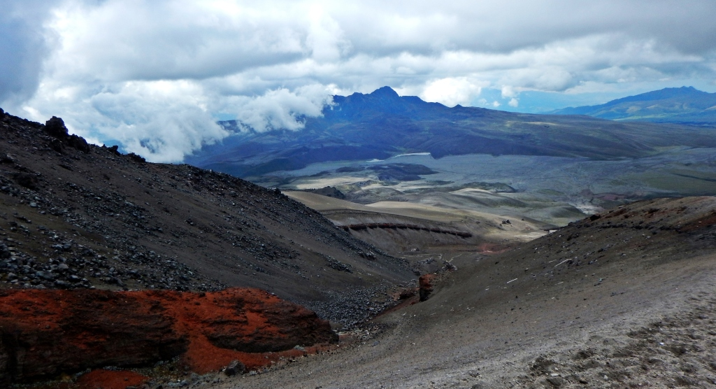 View from Mount Cotopaxi, Ecuador