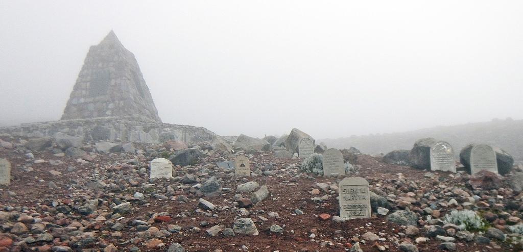 Climber's memorial, Mount Chimborazo, Ecuador