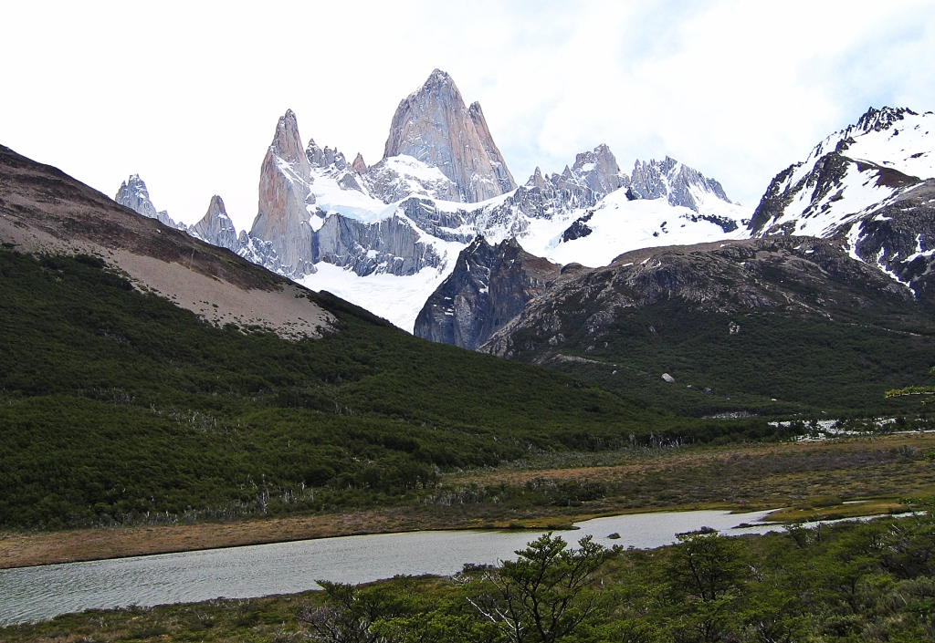 Boggy mallin below Monte Fitz Roy