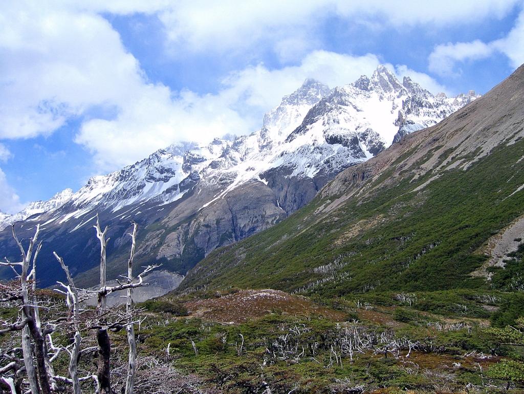 Look towards Laguna de los Perros, Parque Nacional Torres del Paine