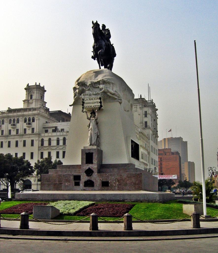 Statue, Plaza San Martin, Lima