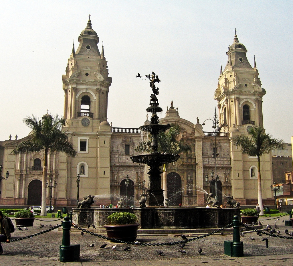 Fountain, Plaza de Armas, Lima