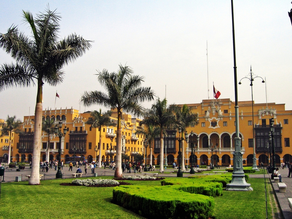 Municipal buildings, Plaza de Armas, Lima