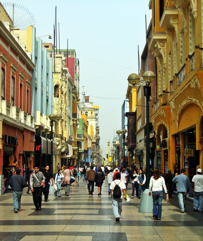 Jiron de La Union pedestrian mall, Lima