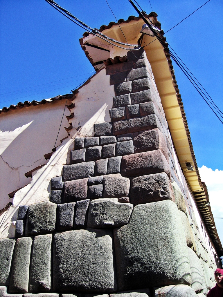 Inca stones on colonial building, Cusco