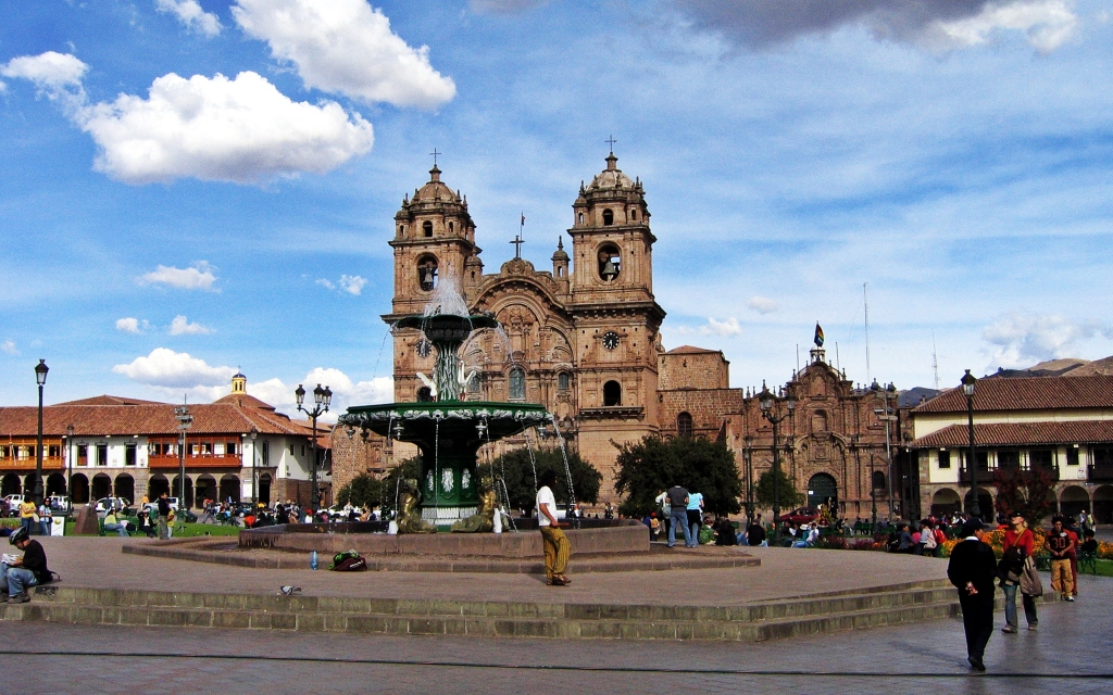 Fountain in front of La Campana, Cusco