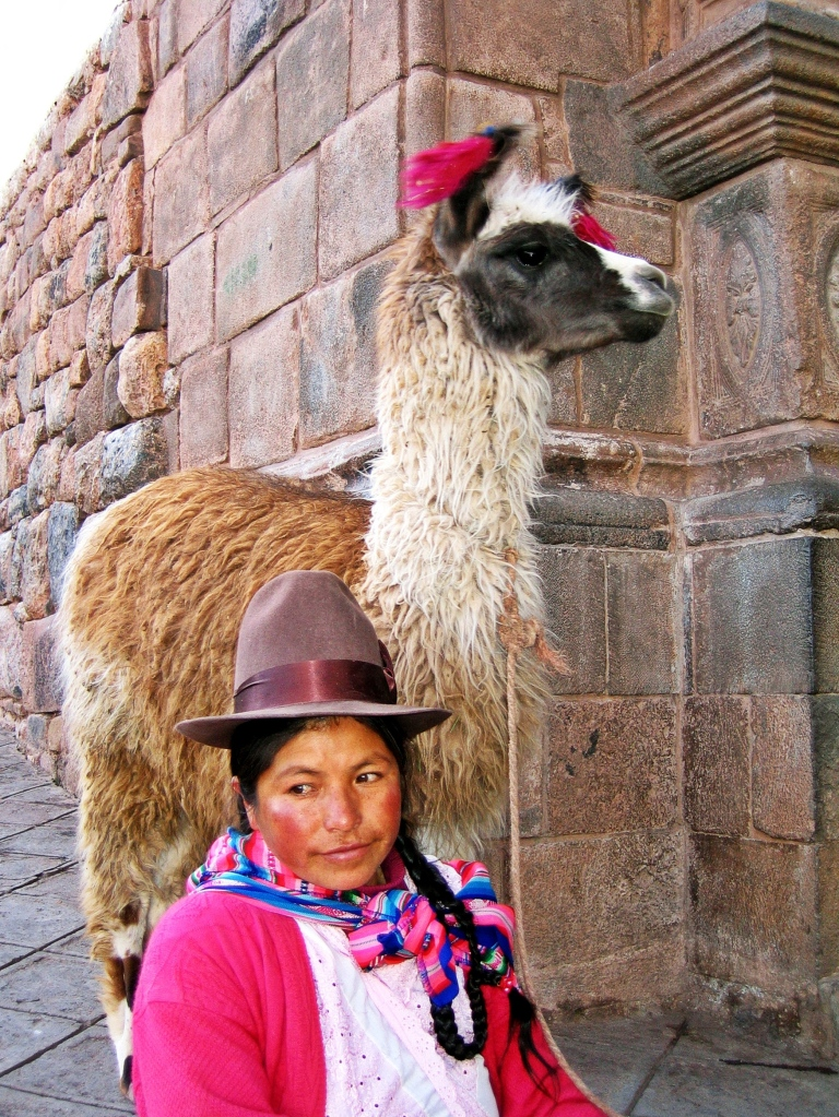 Quechua lady and her llama, Cusco