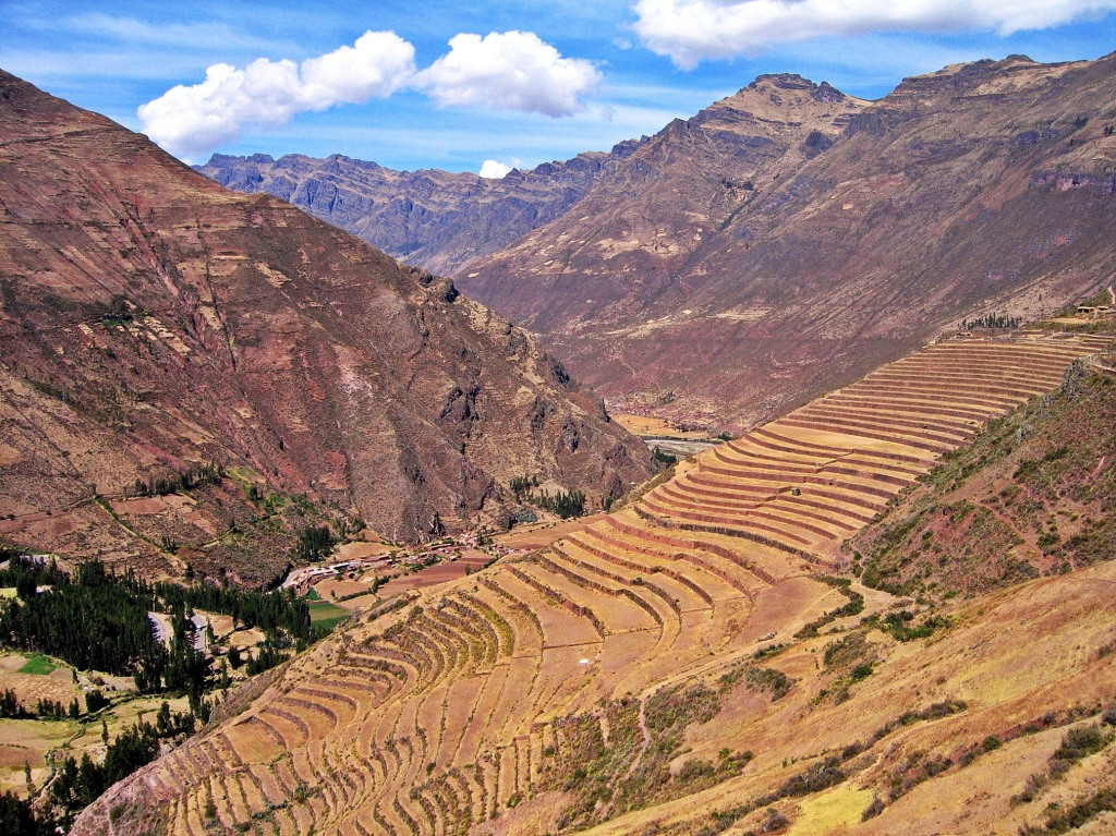 Terraces of Ollantaytambo, Peru