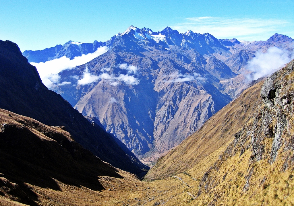 View of Apu Salkantay from Dead Woman's Pass, Inca Trail