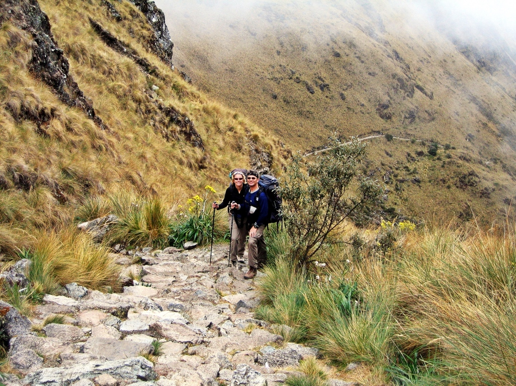 Heading down from Dead Woman's Pass, Inca Trail