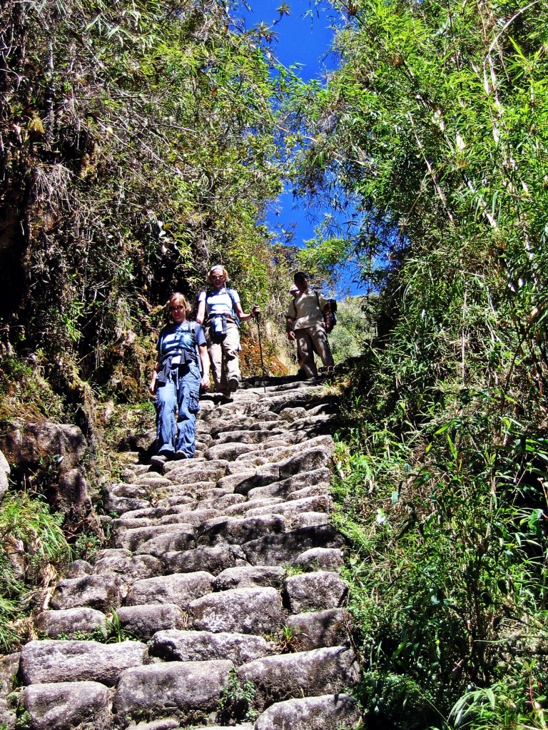 Stone steps, Inca trail