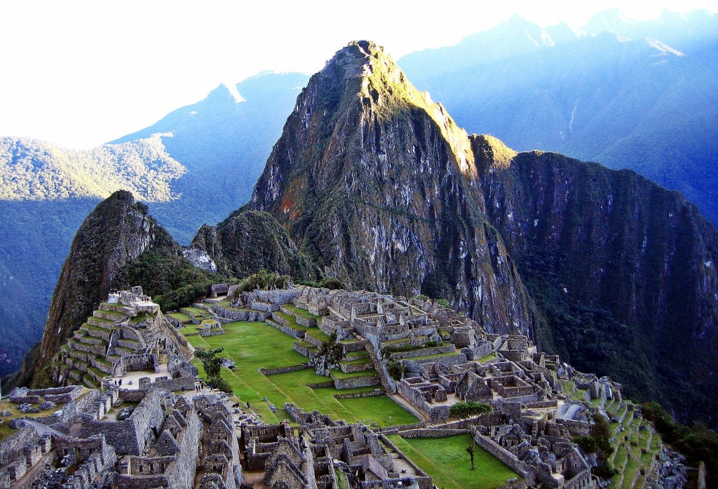 Machu Picchu during sunrise, Inca trail