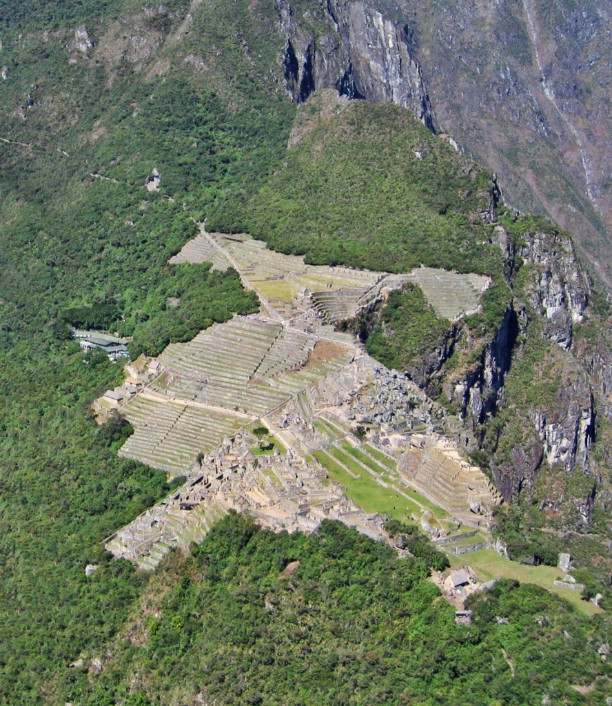 Machu Piccchu seen from Huayna Picchu
