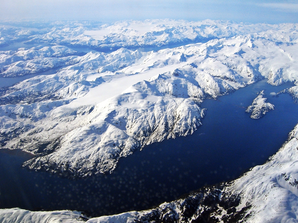 View from flight to Anchorage, Alaska