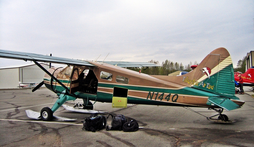 Loading our Talkeetna Air Taxi