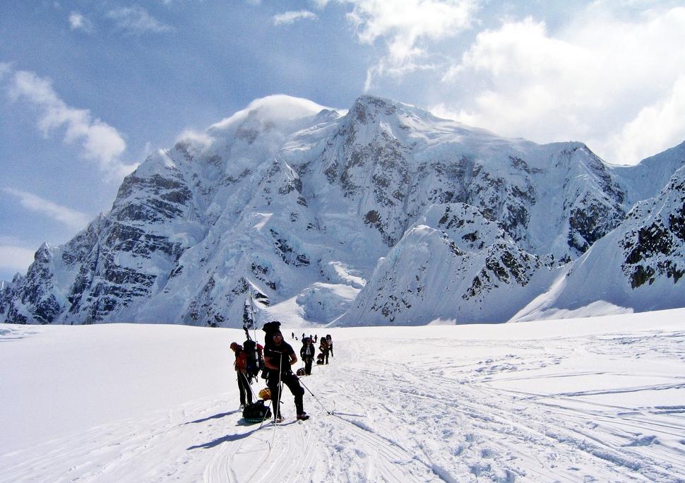 On the way to Camp 1, Denali Climb