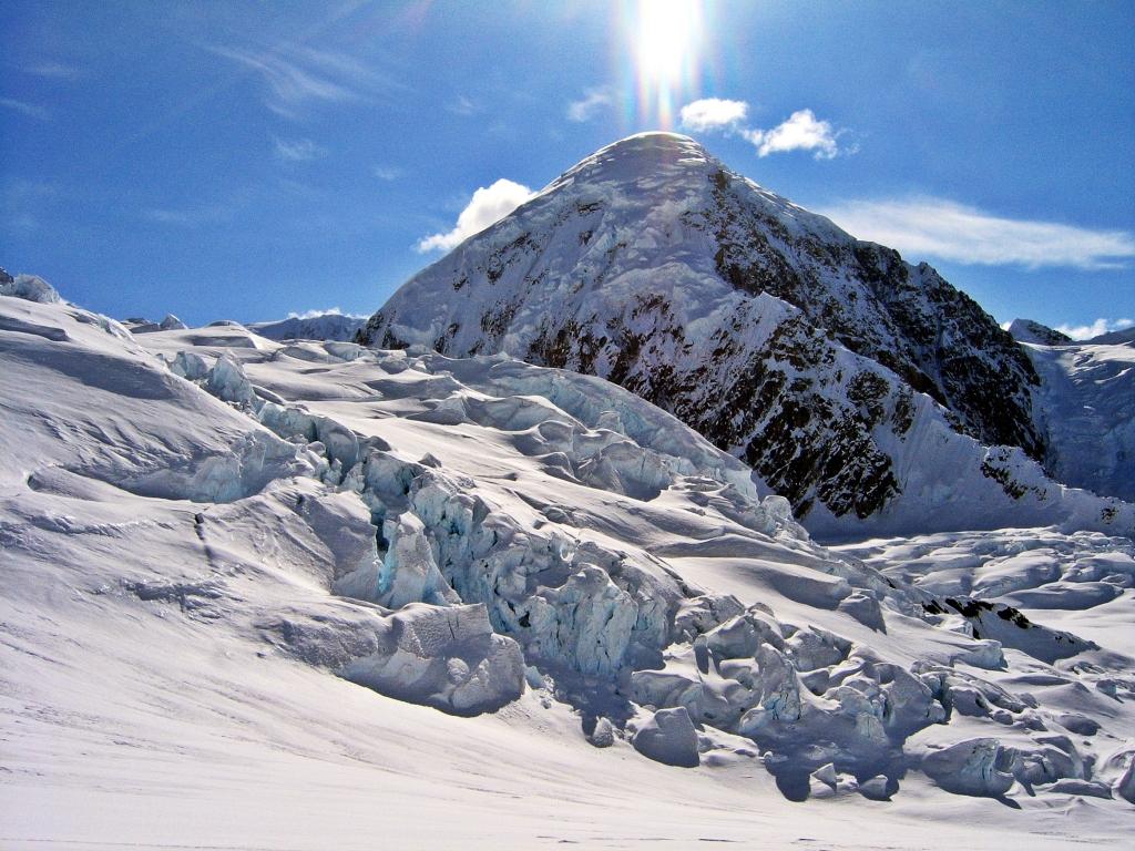 Climbing to Kahiltna Pass, Denali Climb