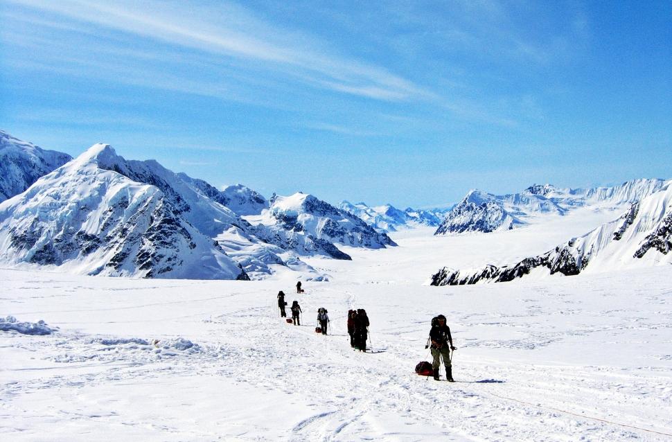 Climbing to Kahiltna Pass Denali Climb