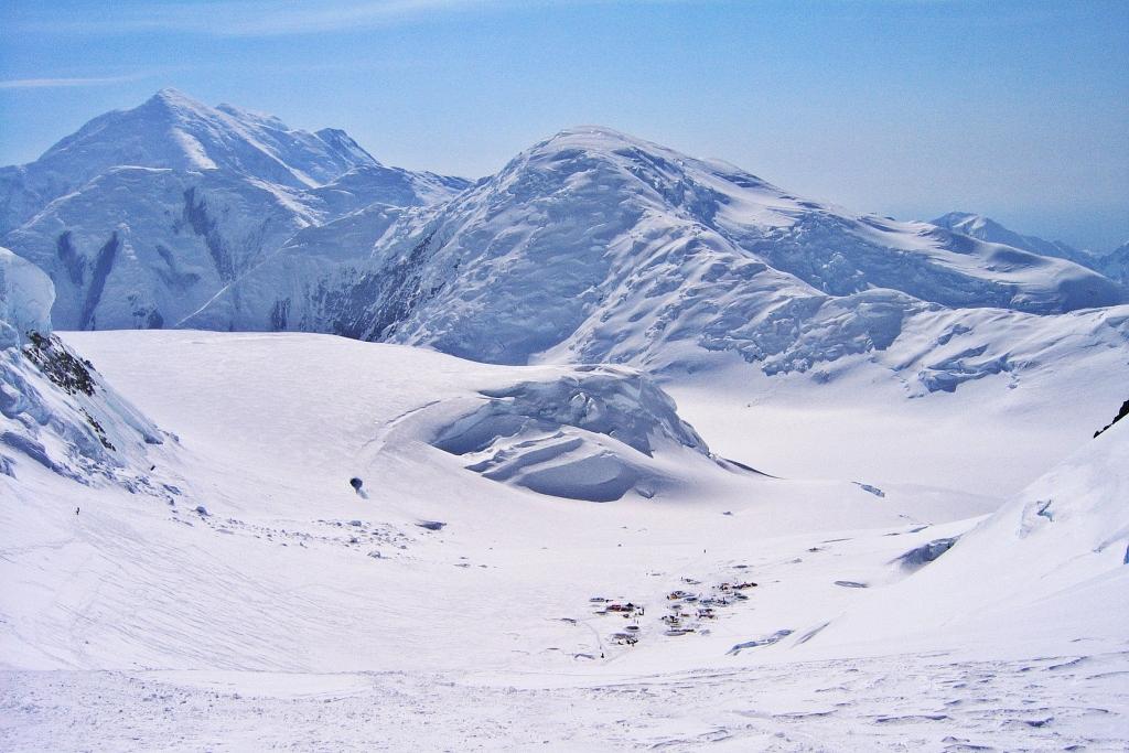 Mt. Hunter and Camp 2 below, Denali Climb