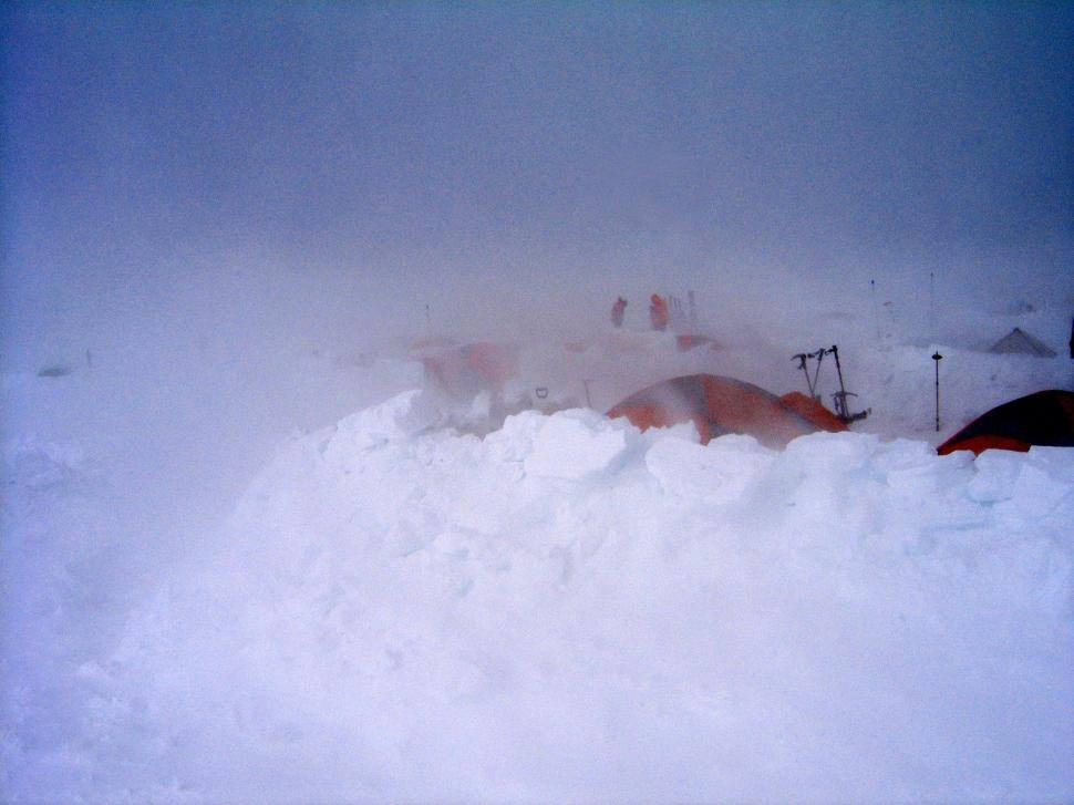 Storm, Camp 3, Denali Climb
