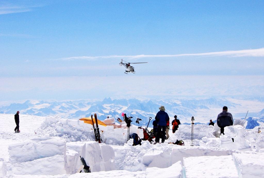 Helicopter rescue, Camp 3, Denali Climb