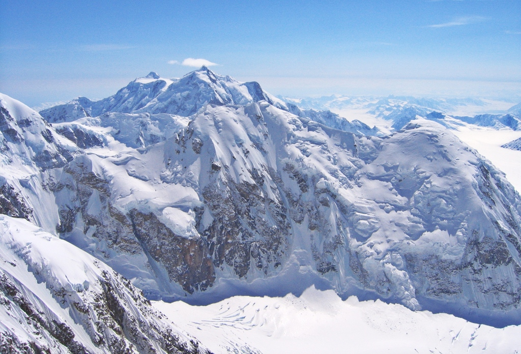 Mt. Hunter from above the headwall, Denali Climb