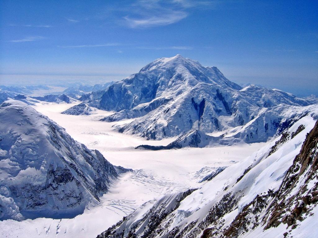 Mt. Foraker above the headwall, Denali Climb