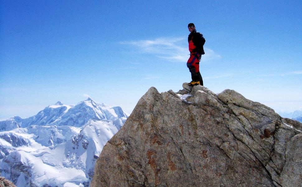 'The Edge of the World', Camp 3, Denali climb