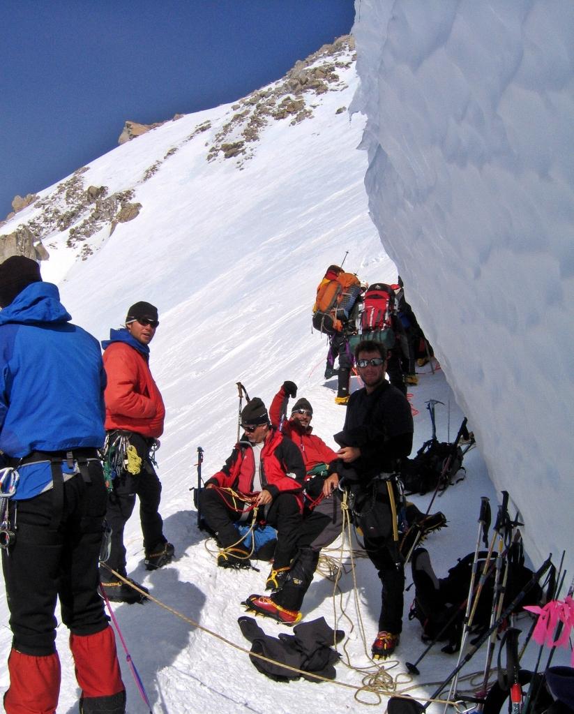 One of the bergschrunds, Denali climb