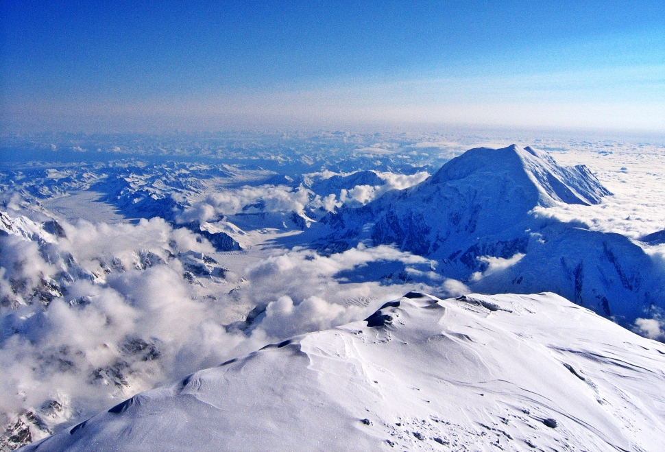 View from Summit Ridge, Denali Climb
