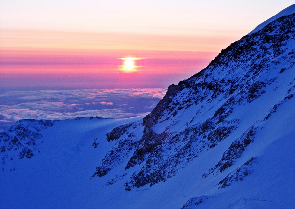 Midnight sun, Camp 4, Denali climb