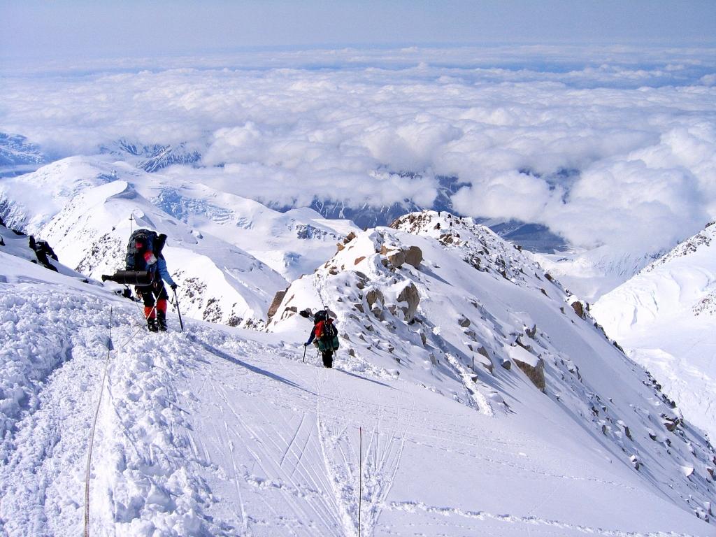 Ridge below Camp 4, Denali climb