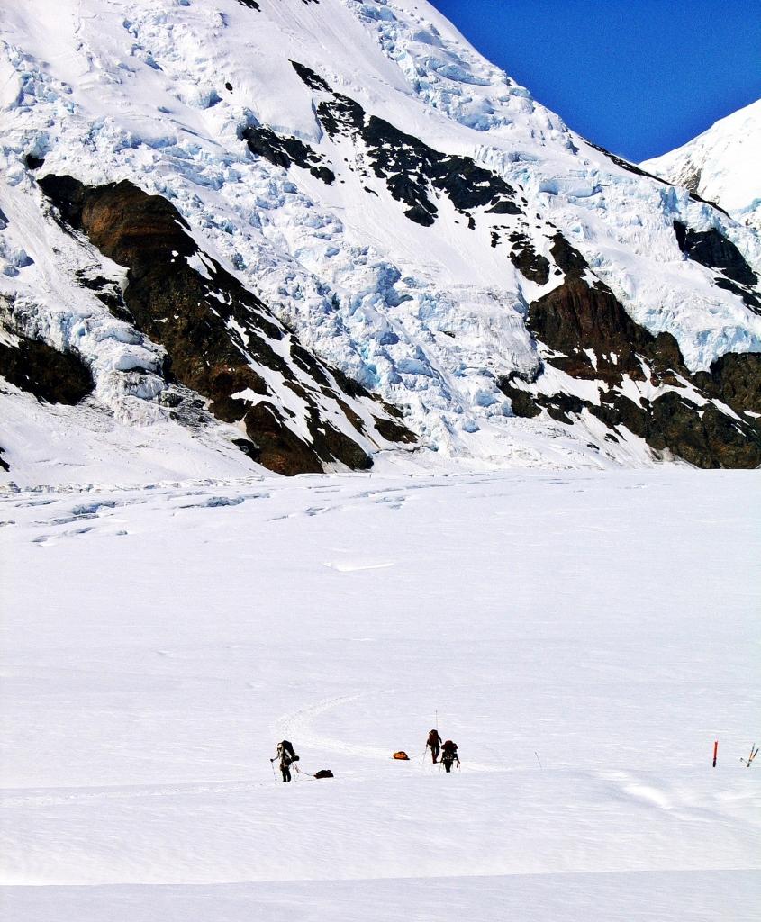 Going up Heartbreak Hill, Denali climb