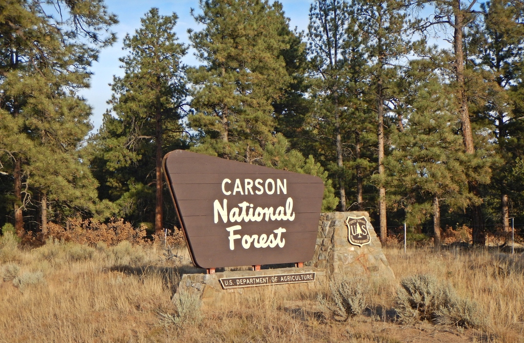 Entrance to Carson National Forest