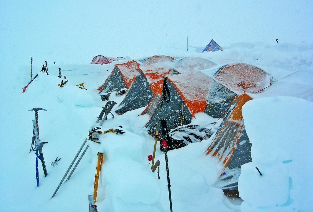 Storm at Camp 3, Denali climb
