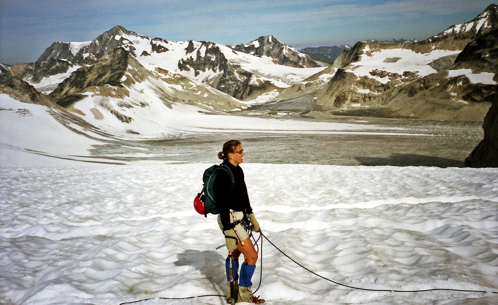Crossing the Vowell Glacier, Bugaboos Provincial Park