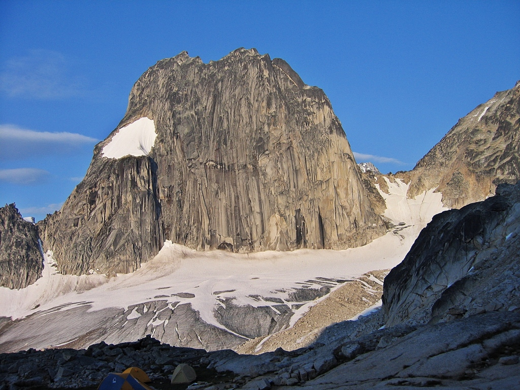 Snowpatch Spire above Applebee Campground, Bugaboos