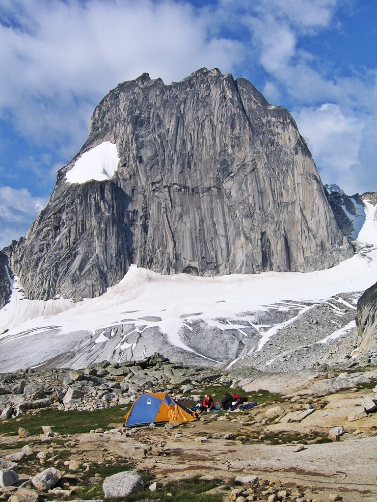 Applebee Campground below Snowpatch Spire, Bugaboos