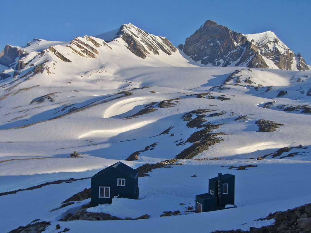 Balfour Hut in winter, Wapta Traverse