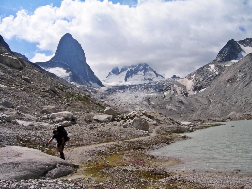 Glacier Lake below Vowell Glacier, Bugaboos