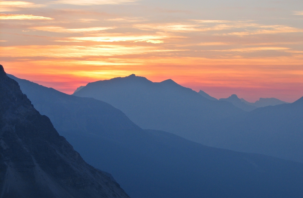 Sunset at Mount Balfour, Wapta Traverse