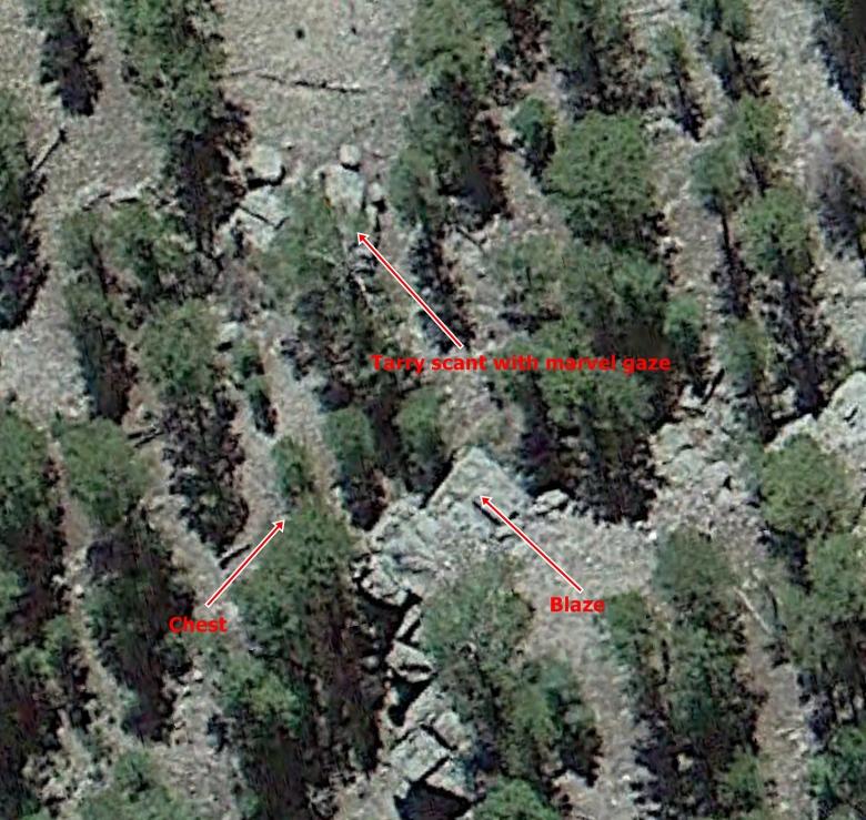 Blaze area from Google Earth