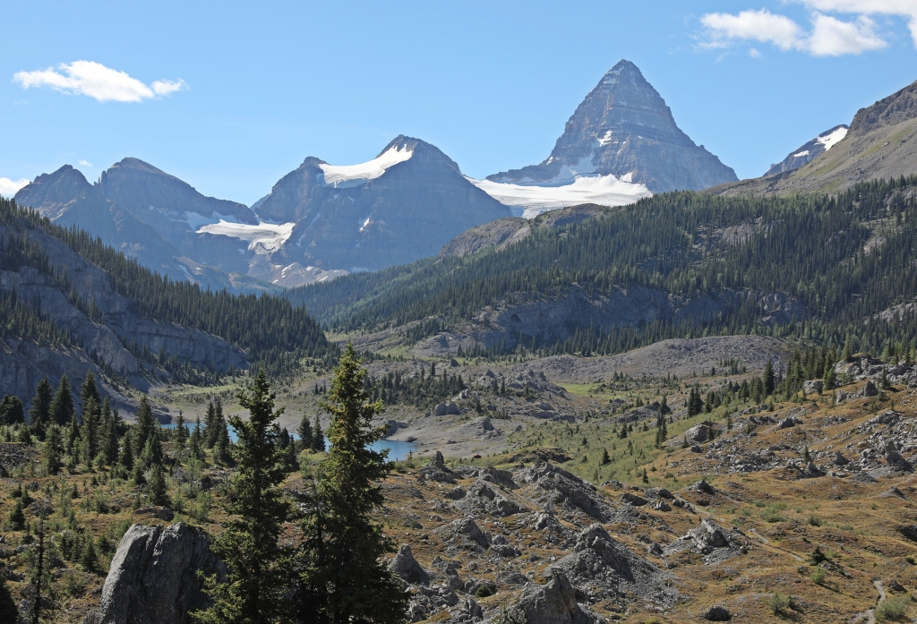 Mount Assiniboine above Og Lake