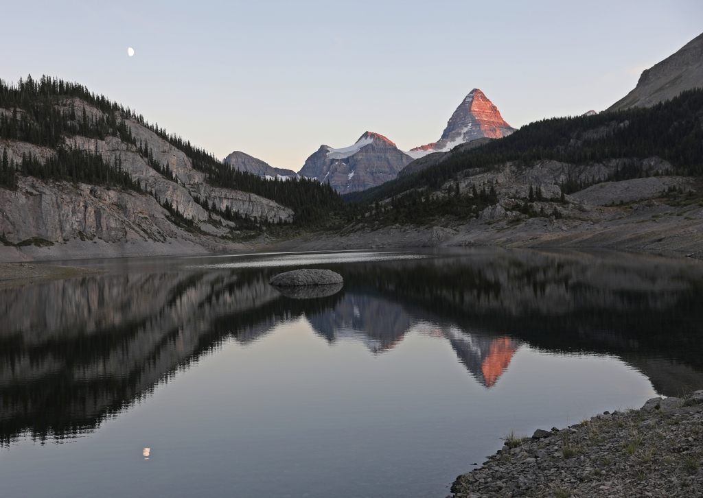 Alpenglow on Mount Assiniboine