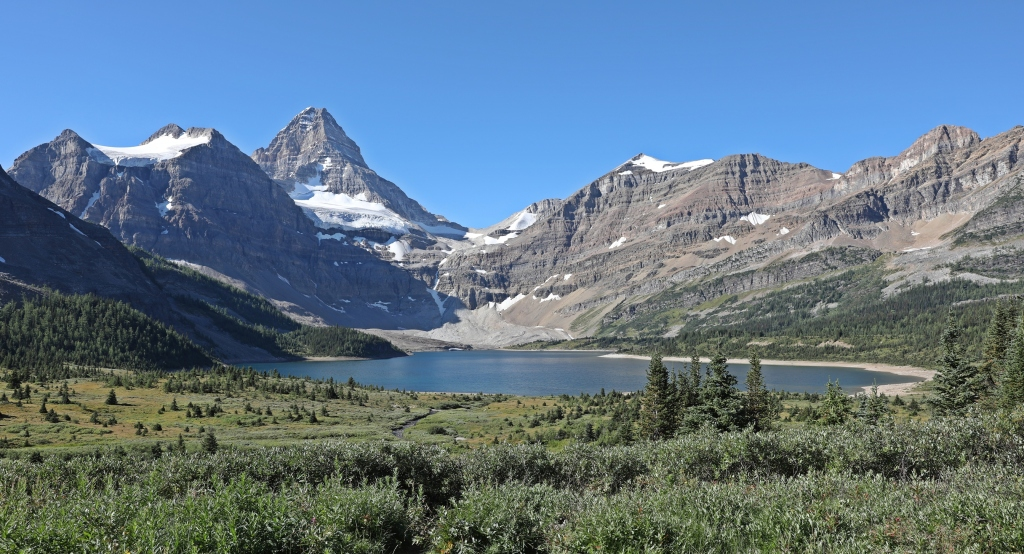 Lake Magog and Mount Assiniboine