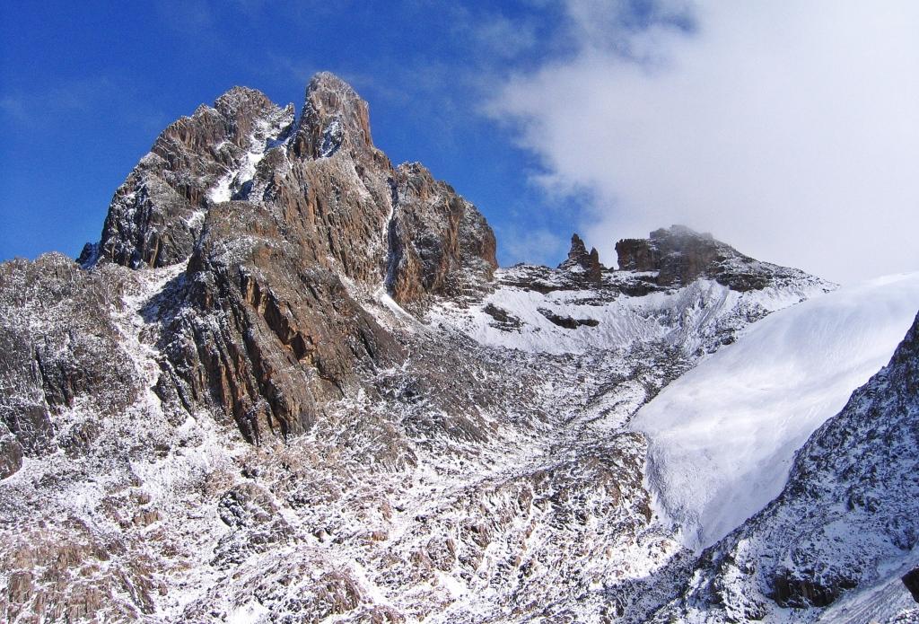 Nelion and Bation Peaks, Mount Kenya